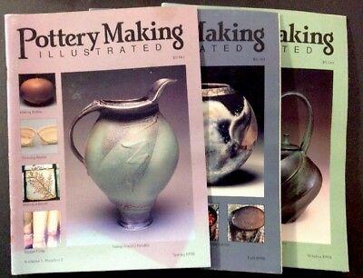 Lot Of 19 Issues Pottery Making Illustrated, Non Sequencel From 1998-2008