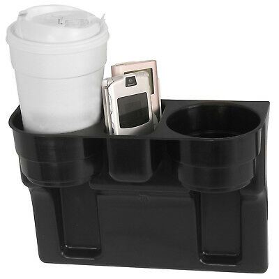 Cup Holder And Car Organizer With 2 Beverage Slots, Black