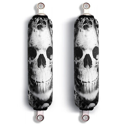 Dark Skull Arctic Cat Sled Shock Protector Covers Snowmobile (Set of 2) NEW
