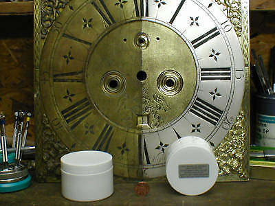 CLOCK DIAL 50g SILVERING powder & incl finishing / face silver Antique silvered