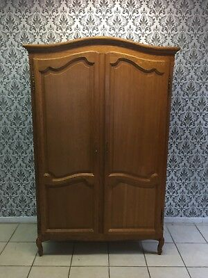 Wardrobe 2 door Oak Louis XV,French style,Delivery possible, see description