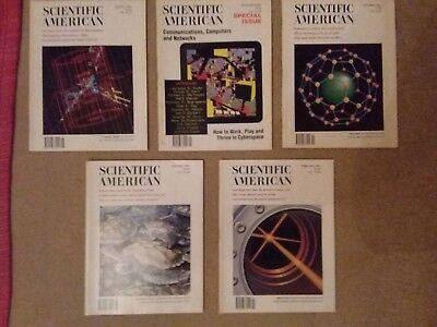 scientific American, 5 issues from 1991/1992. great condition.