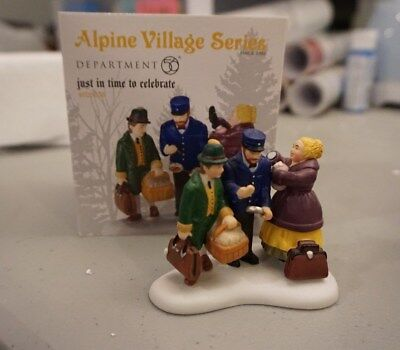 Department 56 Alpine Village Just In Time To Celebrate 4025238 Retired