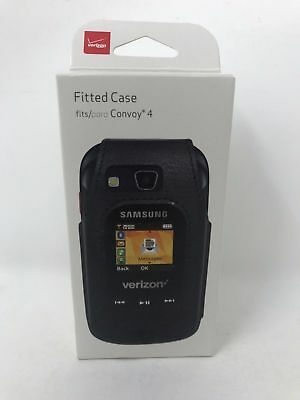 NEW OEM Verizon Fitted case for Samsung Convoy 4 - Black