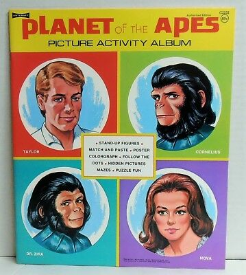 Vintage Planet of the Apes Picture Activity Album Book by Artcraft 1974 NOS
