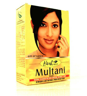 6 x GENUINE hesh multani mitti/mati 100gms Hesh brand..uk seller..from India