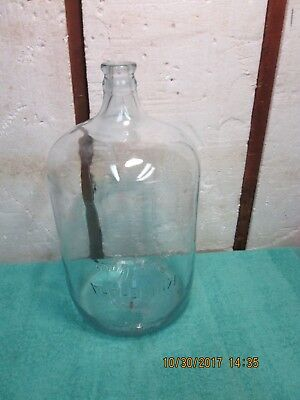 Vintage Blue Tinted Minnehaha Spring Water 5 Gallon Carboy Glass Water Bottle