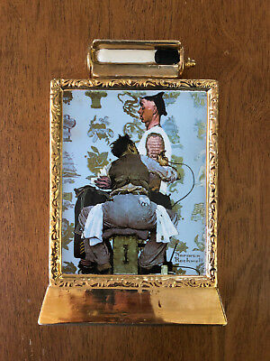 Vintage Norman Rockwell The Tattooist Whiskey Decanter