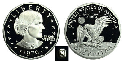 1979 S Susan B Anthony Dollars : Type 1 - Filled S – Proof   Clad  Pr1979