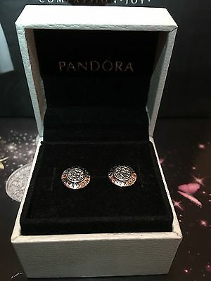 New Genuine Pandora Earring Silver Pave Earrings With Pouch 290559CZ RRP£55