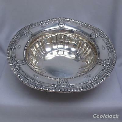 Wallace Sterling Silver Rose Point Ruffled Bowl 4611-9 522g #AD519