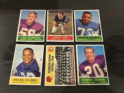 Philly Gum 1964 Football Lot Of 6 Cards