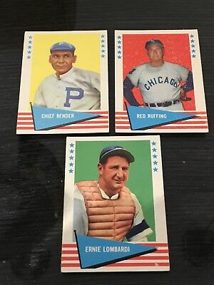 1961 Fleer Baseball Cards Lot Of 3 Cards