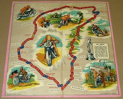 THE MANX TT RACE GAME – CHAD VALLEY BOARD GAME – Isle of Man Tourist Trophy