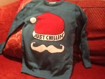 Boys Christmas Jumper - H&M - Age 9 -10  'Just Chillin'