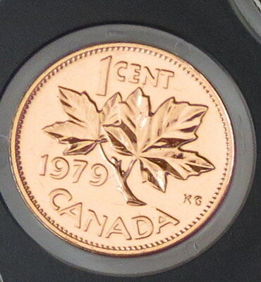 1979 Canada 1 Cent Copper Penny - Maple Leaf - Proof Like Mint condition
