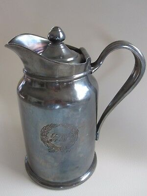 Vintage ST. FRANCIS HOTEL silver pitcher Reed & Barton silver plate