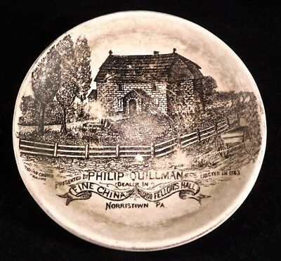 c1900 Advertising Plate, Phillip Quillman Dealer in Fine China, Norristown, PA