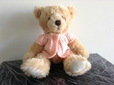 hand knitted teddy bear clothes to fit a 30cm teddy. jacket.