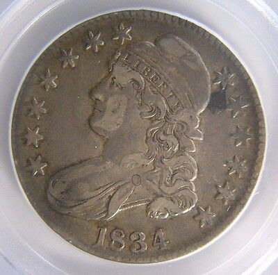 1834 Capped Bust Half Dollar PCGS XF 40 Cert# 20794904 Large Date, Large Letter