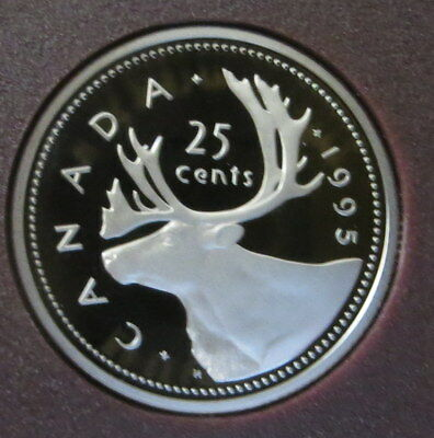 1995  Canada 25 Cent Quarter Dollar - Caribou - Proof Mint condition