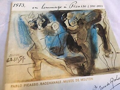 Own a Picasso Print 1973 Fine Art Rothschild Wine Label Winery Mini Poster Lot 1