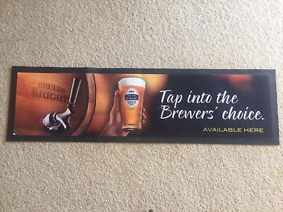 Bruers Bright Bar Mat Runner Beer Home Brew Pub Collectable