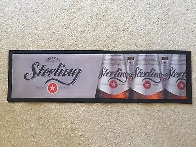 Carlton Sterling Bar Mat Runner Beer Home Brew Pub Collectable
