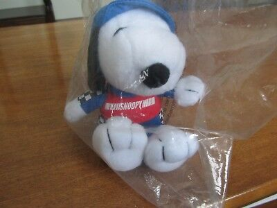 """New in Orig. Pkg. Metlife Snoopy Plush NASCAR Race Car Driver Checkered Flag 5"""""""