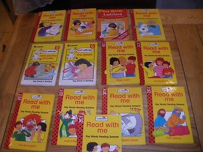 Bundle Of 13 Ladybird Key Words Reading Scheme Books All Very Good Condition.
