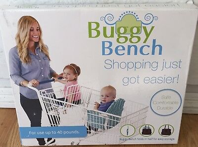 Buggy Bench Shopping Cart Seat in Ocean Blue for Baby, Toddler Brand New