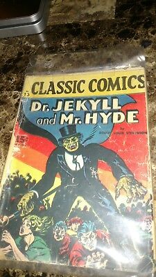 Classic Comics 13:(1943):Dr Jekyll & Mr. Hyde ! Vintage rare comic .
