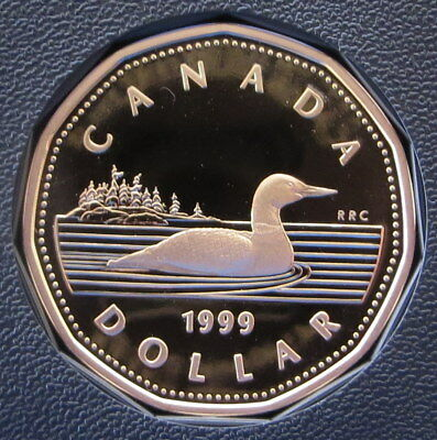 1999 Canada Dollar - Proof Common Loon Loonie