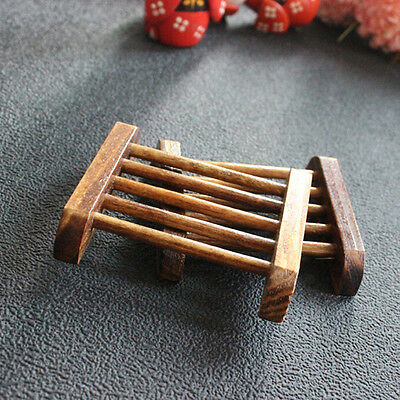 Natural Bamboo Soap Holder Dish Bathroom Shower Plate Stand Storage Wood Boxes