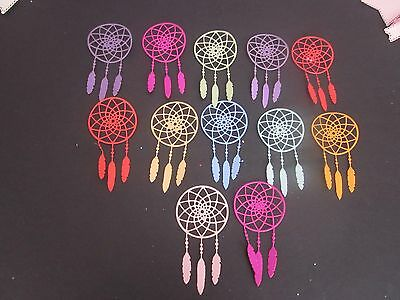 Die Cuts  10  Dream Catchers Cardstock  Many Colours