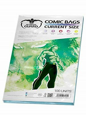 Ultimate Guard Comic Bags Resealable Current Size (100) Ultimate Guard (M6f)