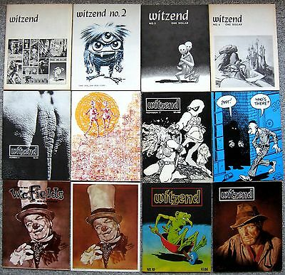 WITZEND fanzine #1-10,12 & JEFF JONES art print WOOD FRAZETTA BODE WILLIAMSON