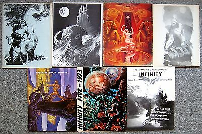INFINITY set of 7 vintage fanzines FRAZETTA JONES WRIGHTSON