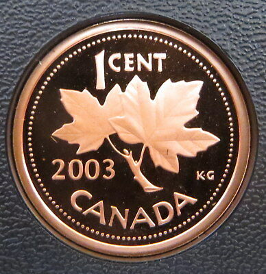 2003 Canada 1 Cent Bronze Penny - Maple Leaf - Proof version