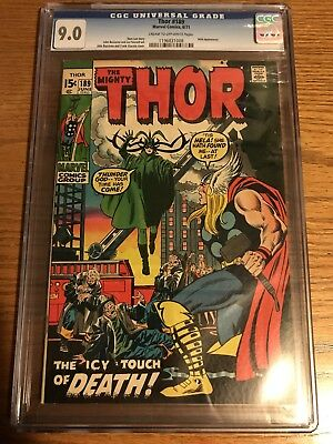 The Mighty Thor 189 CGC 9.0 Marvel
