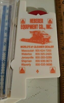 Vintage GLEANER COMBINE advertising rain gauge - ALLIS CHALMERS AGCO DEUTZ farm