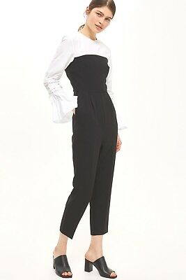 Topshop 2 In 1 Corset Style Jumpsuit In Stores Trendy Flare Sleeve