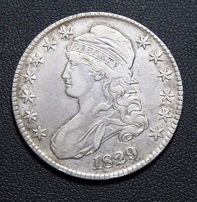 1829 Capped Bust Silver Half Dollar -PRICE REDUCED-