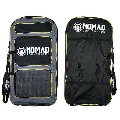 Nomad Transit Padded Double Bodyboard Bag - Charcoal