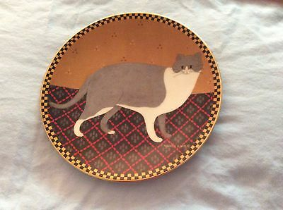 Vintage LENOX Collections Warren Kimble WELCOME CAT Collectors Plate, Gold Rim