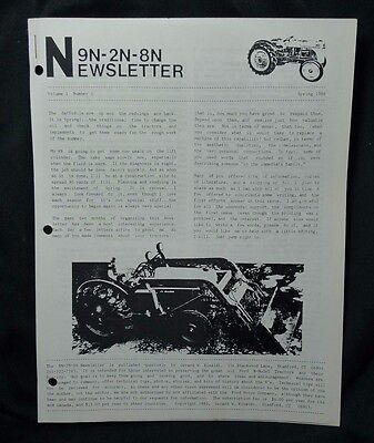 Ford Tractor 9N-2N-8N Newsletter Volume 1 Number 3 Spring 1986