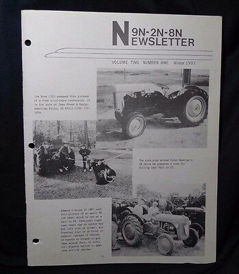 Ford Tractor 9N-2N-8N Newsletter Volume 2 Number 1 Winter 1987
