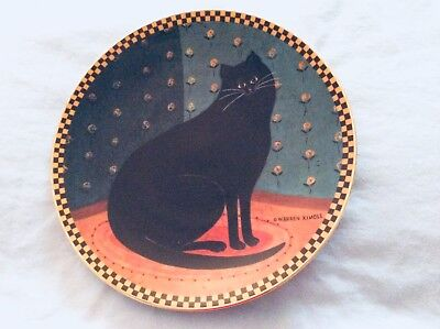 Vintage LENOX Warren Kimble LUCKY CAT Collectors Plate from 1995, New condition