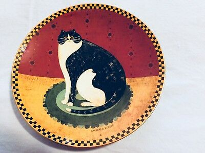Vintage, LENOX Warren Kimble HAPPY CAT Collectors Plate from 1994 Display #A3323