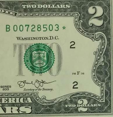 2013 $2 Choice Uncirculated San Francisco *** STAR *** Old US Currency!!